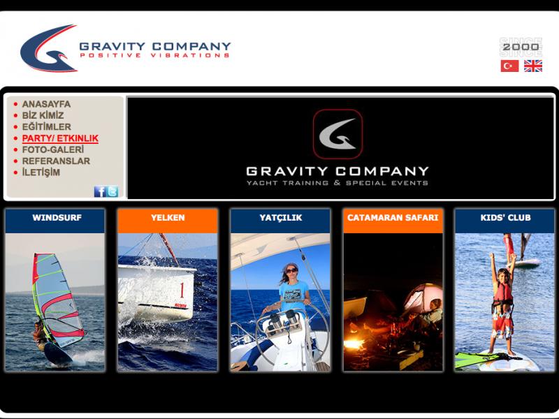 Gravity Company Kurumsal Websitesi Tasarımı