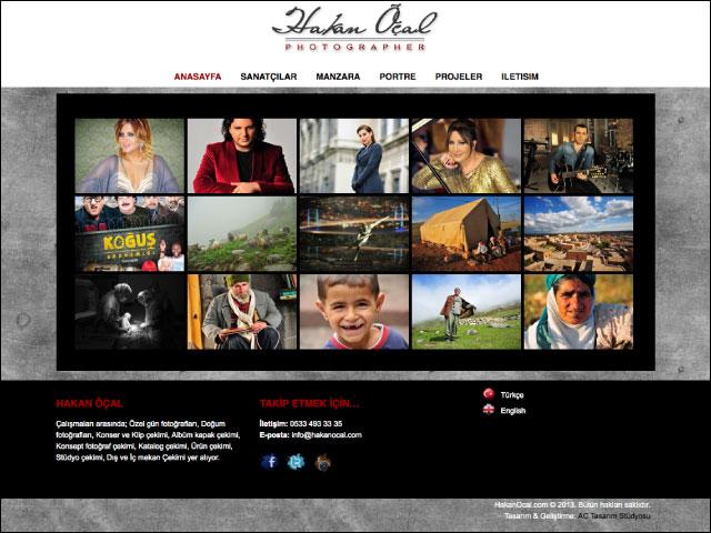 Hakan Öçal (Fotoğrafçı) Kişisel Websitesi Tasarımı