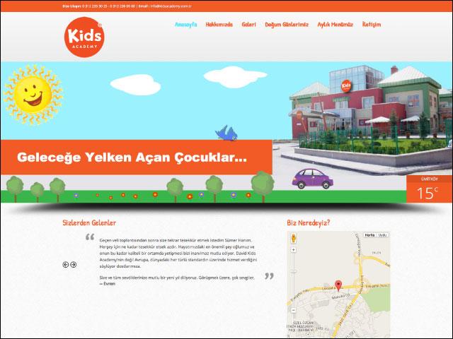 Kids Academy Kurumsal Websitesi Tasarımı