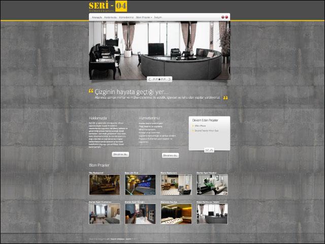 Seri04 Architects & Engineers Kurumsal Websitesi Tasarımı