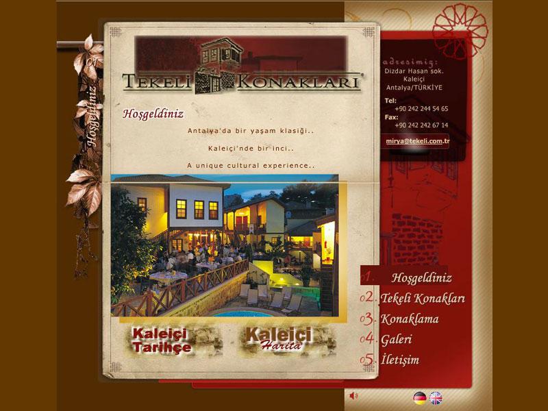 Tekeli Konakları Kurumsal Websitesi Tasarımı