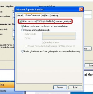 Outlook e-posta kurulumu