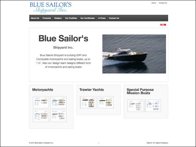 Blue Sailor's Shipyard Kurumsal Websitesi Tasarımı