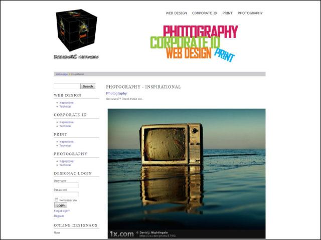 DesignAC Network Websitesi Tasarımı ve Yönetimi