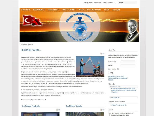 Engel Tanımayanlar Gençlik ve Spor Kulübü Kurumsal Websitesi ve Logo Tasarımı