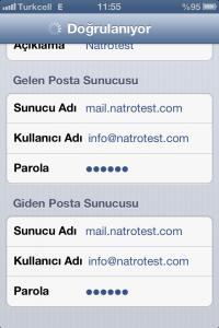 iPhone için e-posta kurulumu - Ali Coşkun