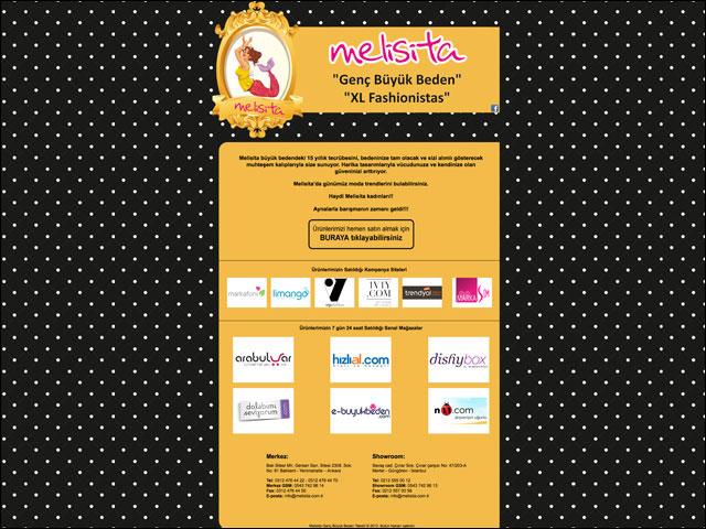 Melisita Genç Büyük Beden Tekstil Kurumsal Web Sayfası Tasarımı