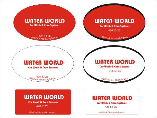 Water World Logo ve Promosyonel Malzeme Tasarımı