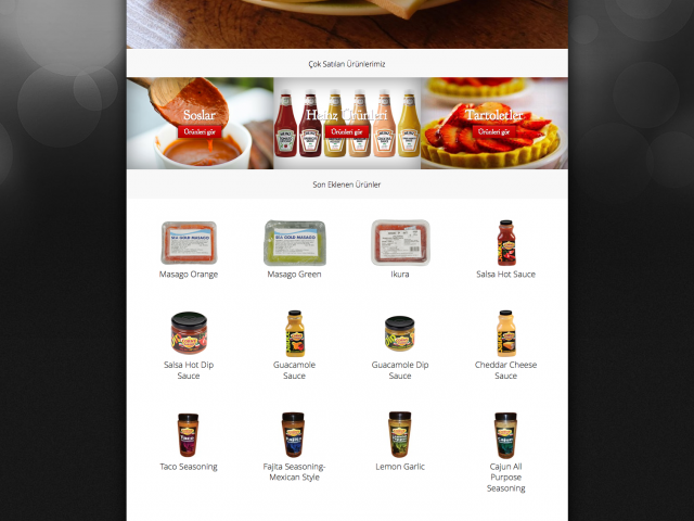 Food Company Kurumsal Websitesi Tasarımı