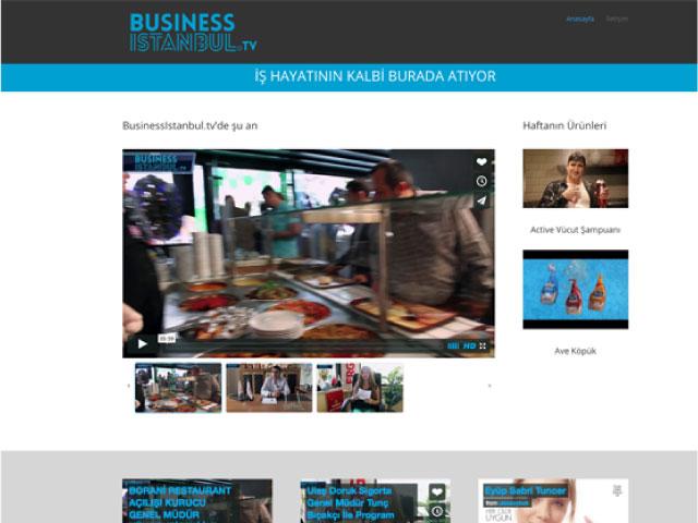 BusinessIstanbul.tv Websitesi Tasarımı & Yönetimi
