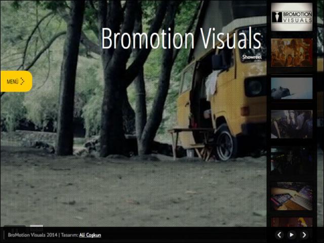 Bromotion Visuals Kurumsal Websitesi Tasarımı