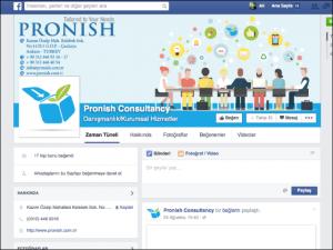 Pronish sosyal medya tasarımı