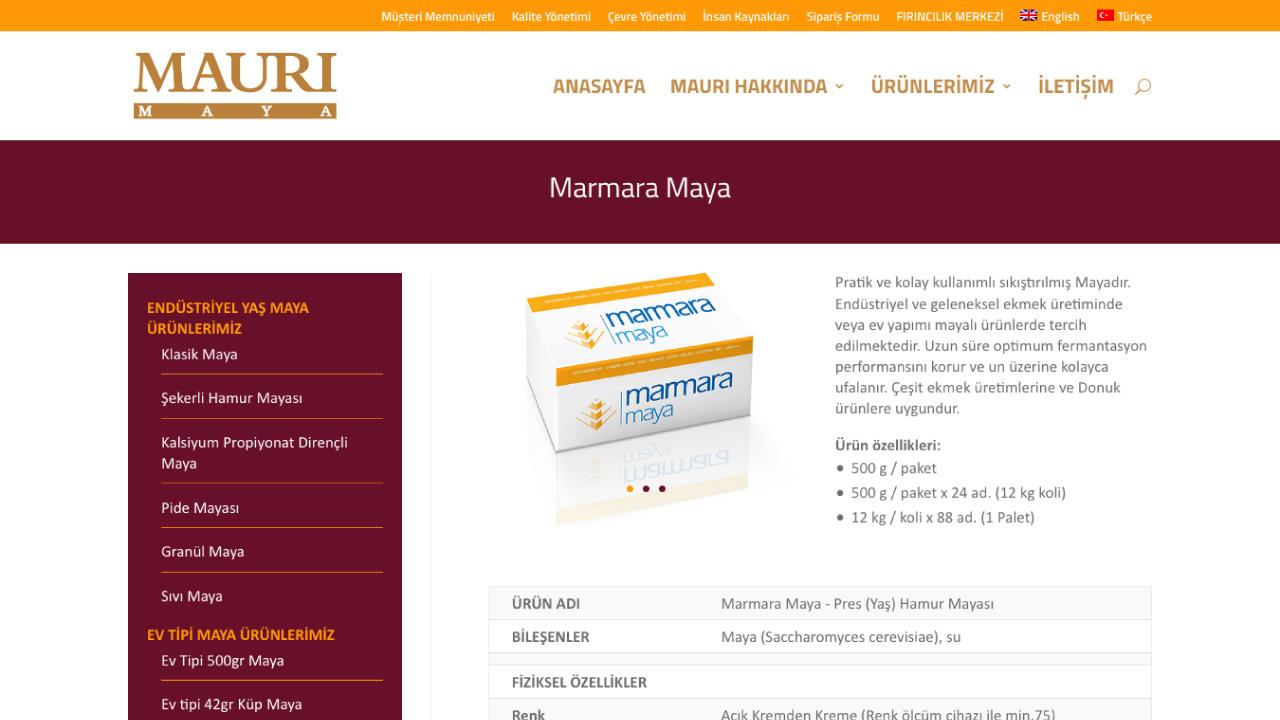 Mauri Maya Websitesi Tasarımı