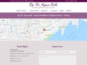 Ali Coşkun - Op. Dr. Aysun Kale Websitesi Tasarımı