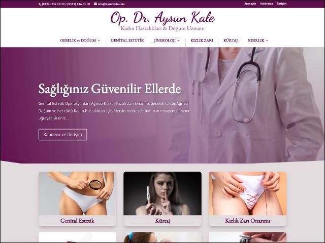 Op. Dr. Aysun Kale Websitesi Tasarımı