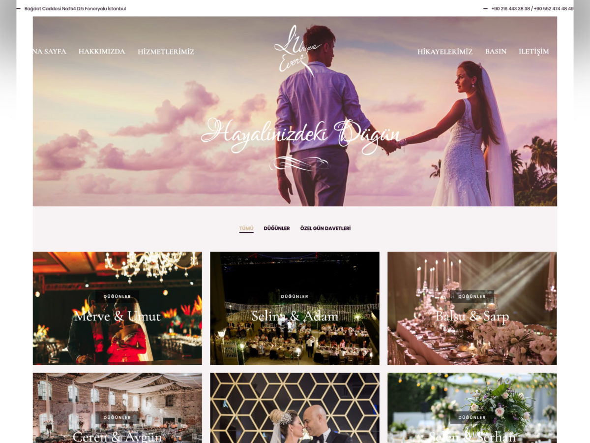 Ali Coşkun - L'Unique Event Websitesi Tasarımı