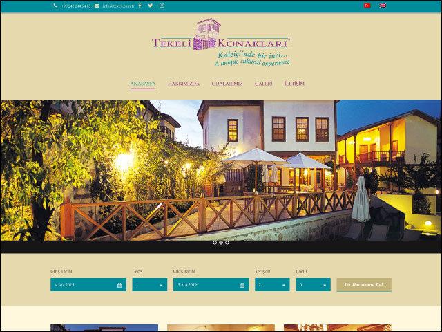 Tekeli Konakları Websitesi Yeniden Tasarımı